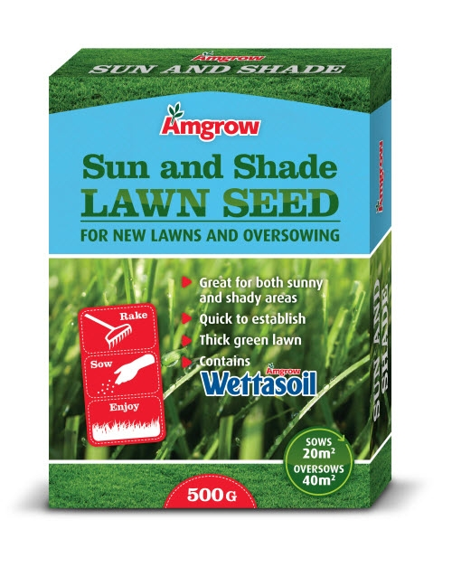 Amgrow Sun and Shade Lawn Seed_500g