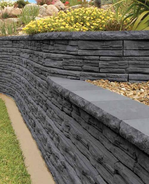 Adbri Natural Impressions Retaining Wall Block 300mm X