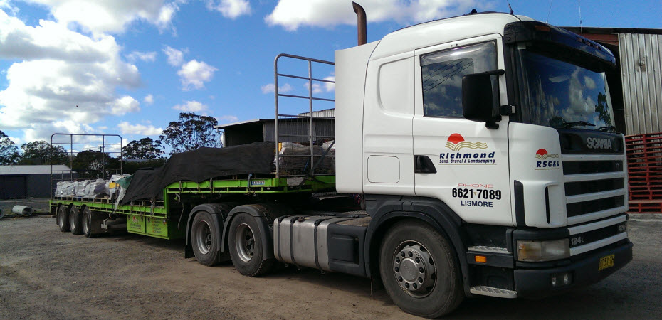 Richmond Sand Gravel and Landscaping Truck Hire - Semi - Step Deck Trailer