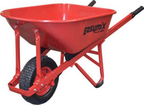 Red Steel Contractors Wheelbarrow 100 Litre