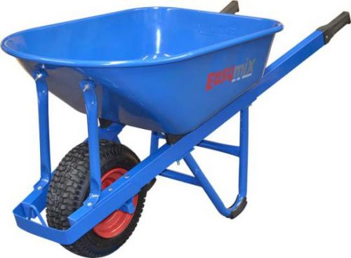 Blue Steel Extra Heavy Duty Contractors Wheelbarrow