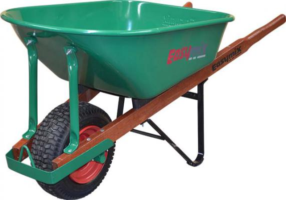 Easymix 100 Litre Green Steel Heavy Duty Landscapers Wheelbarrow