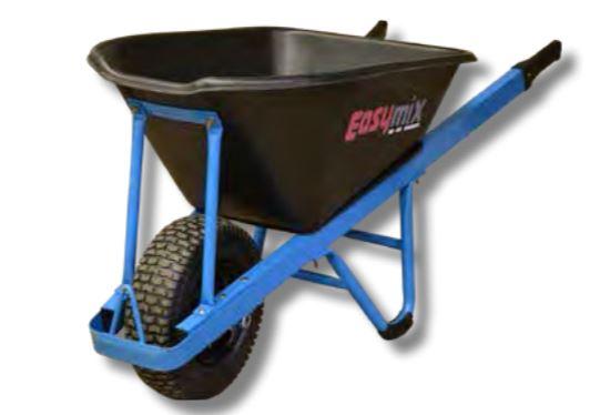 Easymix Heavy Duty Contractors Wheelbarrow with pouring lip 100 Litre capacity