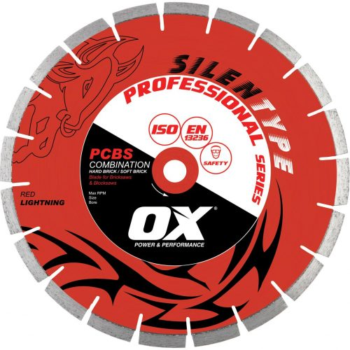 "Professional PCBS14"" Silent Diamond Blade by Ox"