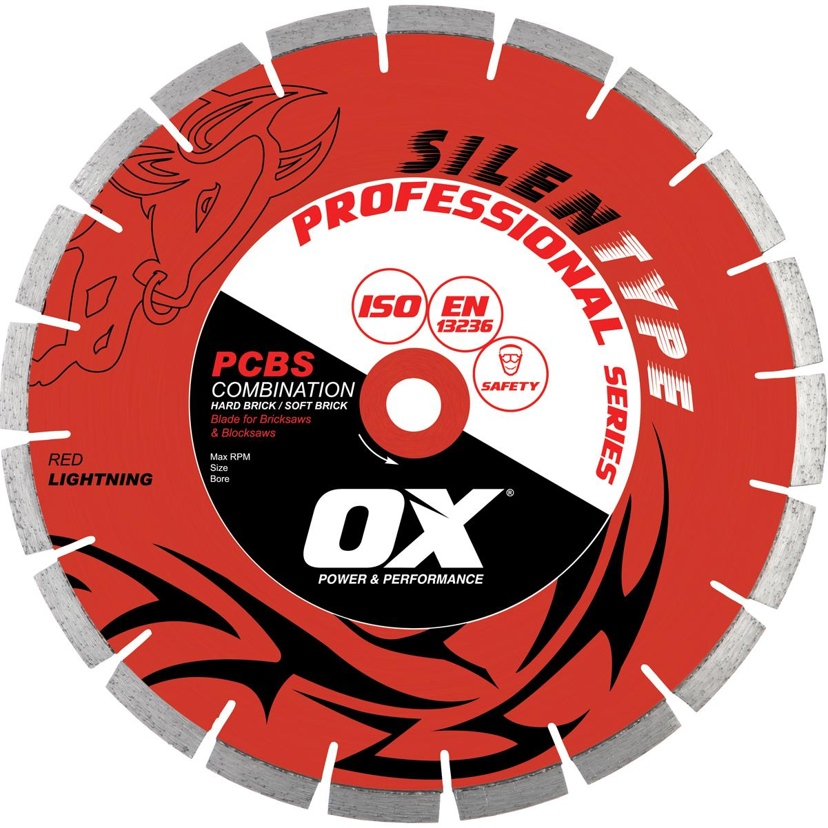"""Professional PCBS14"""" Silent Diamond Blade by Ox"""