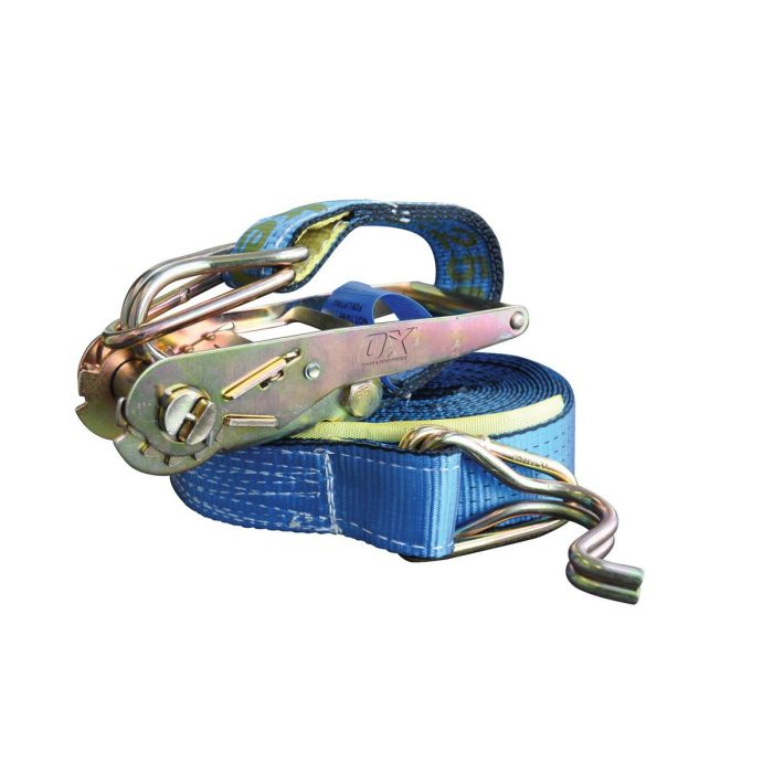 Professional 50mm x 9M Ratchet Tie Down Strap by Ox