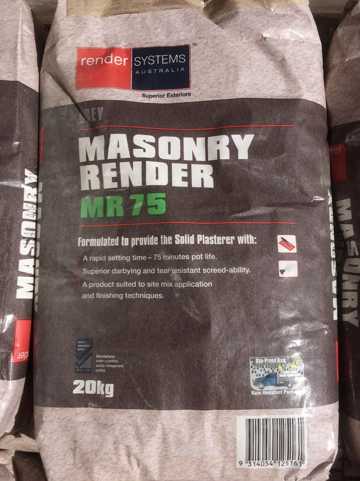 mr75 Masonry Render by Render Systems Australia