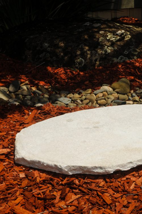 Coconut Ice Stepper for paving and stepping stones.