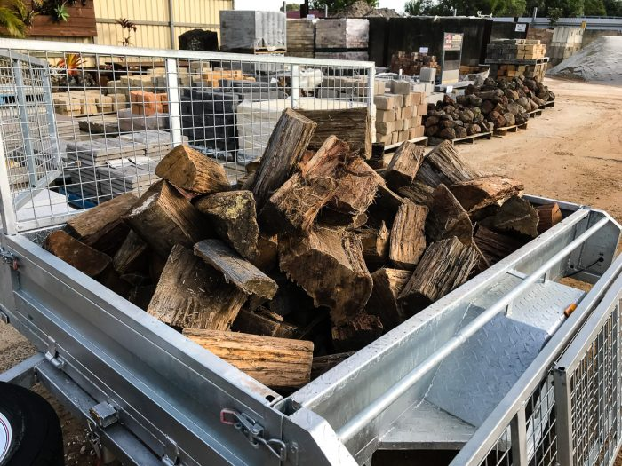 6 x 4 Trailer Loads of Clean Burning Aged Hardwood firewood available in Ballina and Lismore