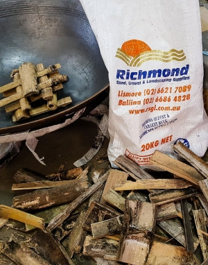 Bamboo kindling for starting your fire this winter