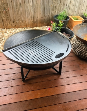 Heavy Duty Cast Iron Grill plate for fire pit