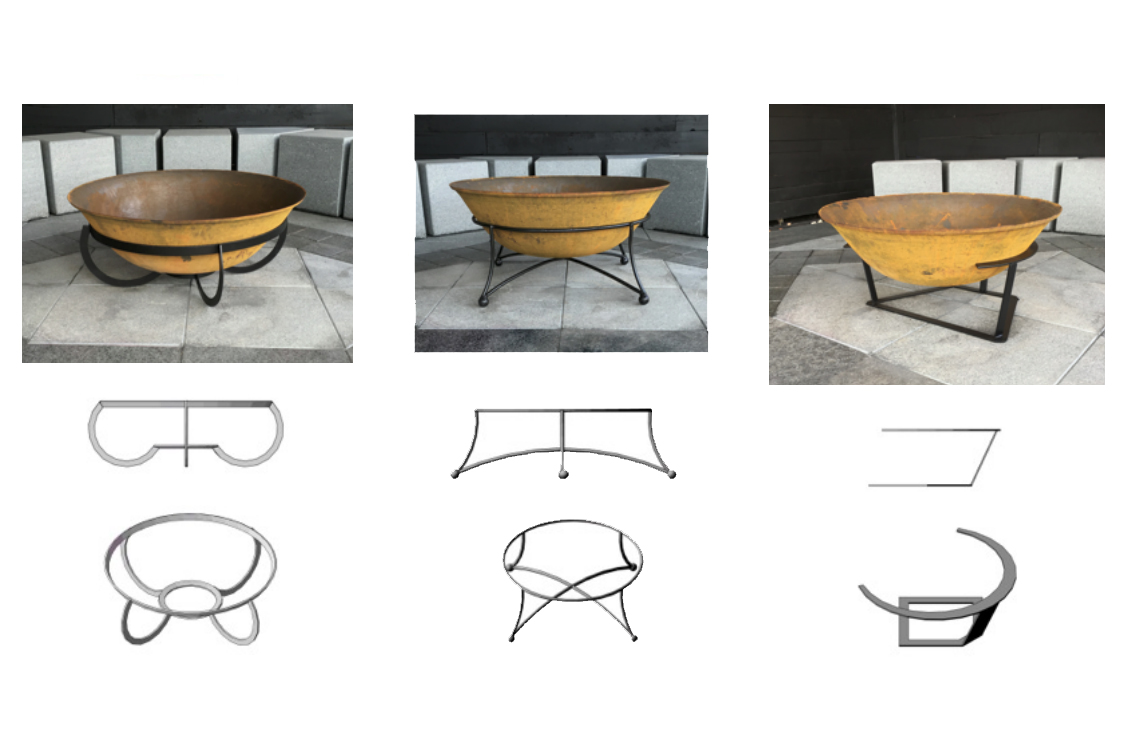 Fire pit designs available in three styles